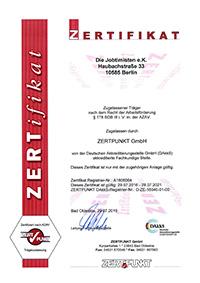 Zertifizierung nach AZAV